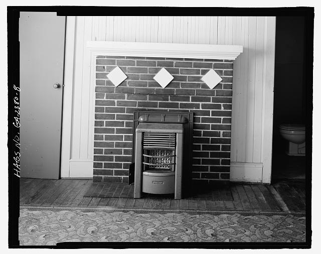 FIREPLACE LIVING AREA - Mamie R. Brinson House, 341 South Main Street, Statesboro, Bulloch County, GA