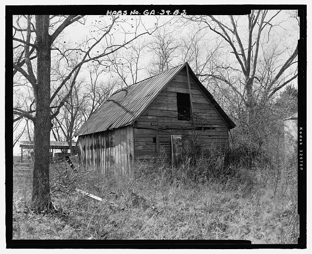 East side and north rear - Emory Webb Farm, Barn, State Highway 3/U.S. Highway 19, Sumter, Sumter County, GA