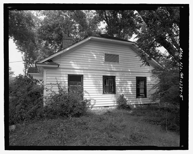 Side elevation, west facing - J.W. Mann House, 1918 Dresden Drive, Chamblee, Decatur County, GA