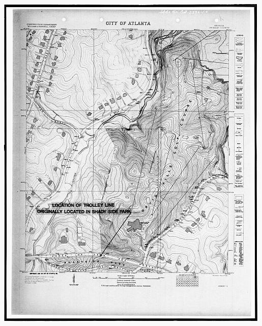 1930 CITY OF ATLANTA QUADRANGLE MAP - Druid Hills Historic District, US 29, Atlanta, Fulton County, GA