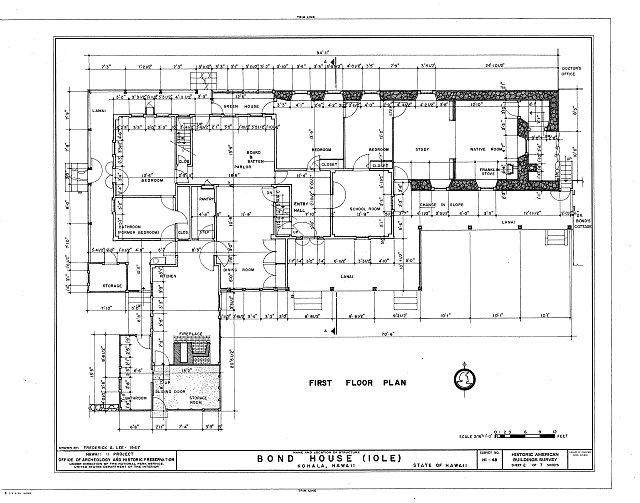 HABS HI,1-KOHAL,1- (sheet 2 of 7) - Bond House, State Route 27 vicinity, Halaula, Hawaii County, HI