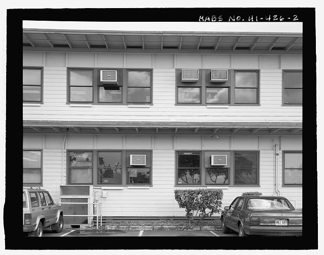 PORTION OF NORTHWEST SIDE. - U.S. Naval Base, Pearl Harbor, Combat Intelligence Center, Makalapa Drive in Makalapa Administration Area, Pearl City, Honolulu County, HI