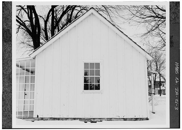 3.  SOUTH SIDE - Herbert Hoover Birthplace House, Southwest corner of Penn & Downey Streets (moved), West Branch, Cedar County, IA