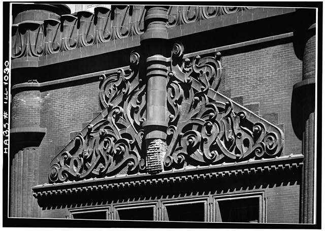 5.  Historic American Buildings Survey Cervin Robinson, Photographer August 1963 EXTERIOR DETAIL - Rookery Building, 209 South LaSalle Street, Chicago, Cook County, IL