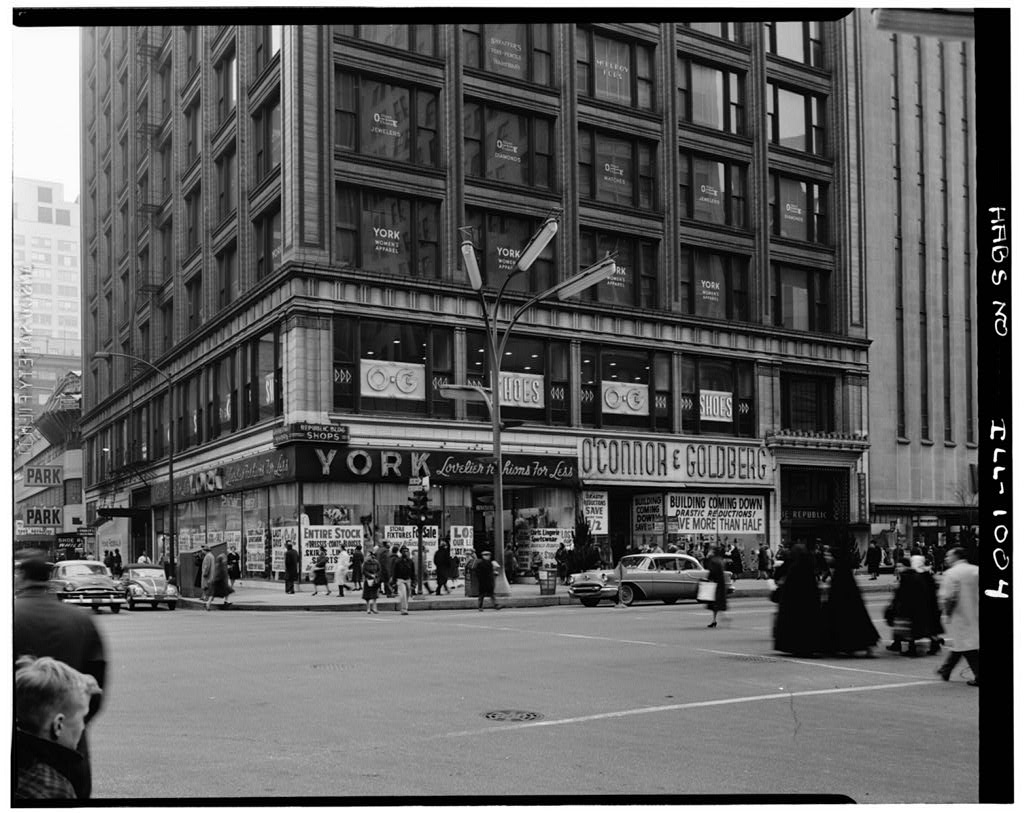 1960 photo of the Republic Building, 209 South State Street, Chicago