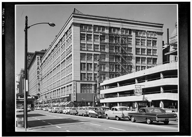 1.  Historic American Buildings Survey Cervin Robinson, Photographer July 1963 SOUTH (FRONT) AND WEST ELEVATIONS - Leiter II Building, South State  & East Congress Streets, Chicago, Cook County, IL
