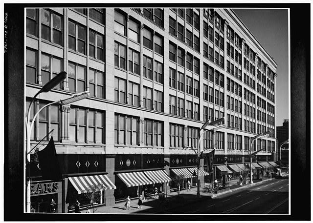2.  Historic American Buildings Survey Cervin Robinson, Photographer August 1963 WEST (FRONT) ELEVATION - Leiter II Building, South State  & East Congress Streets, Chicago, Cook County, IL