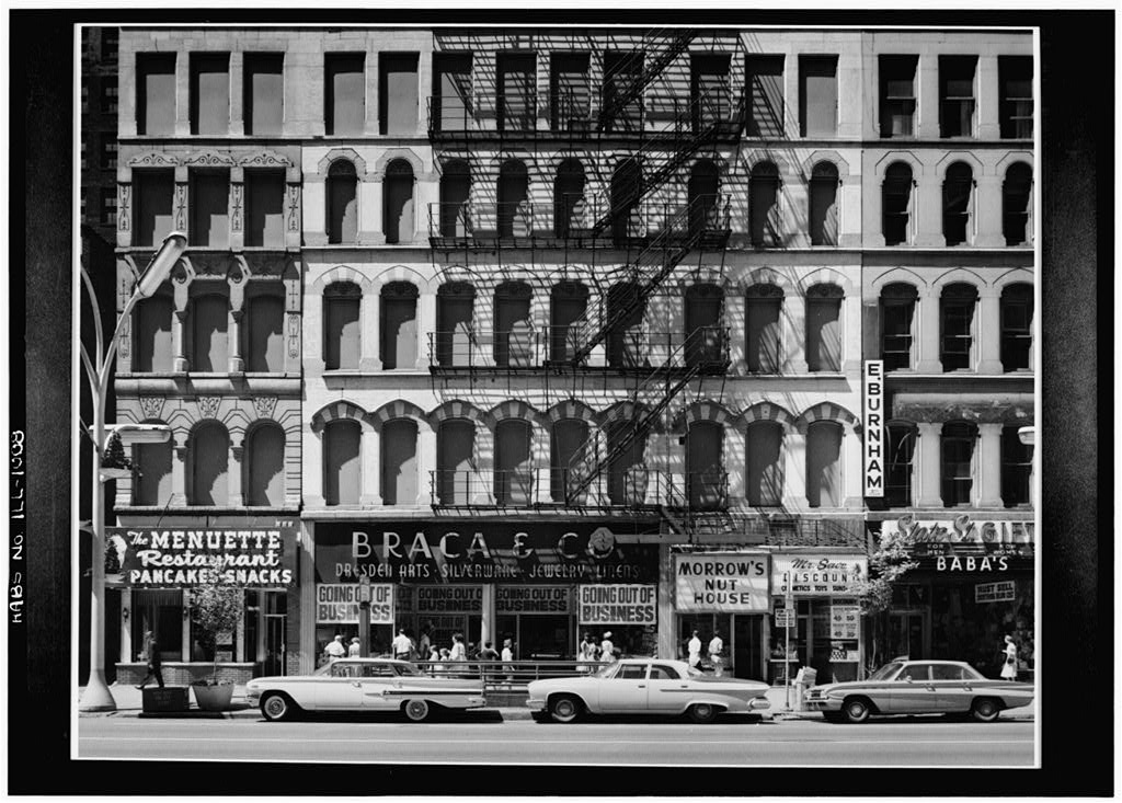 1963 photo of 126-146 North State Street, Chicago