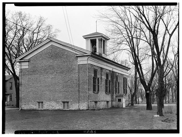 2.  Historic American Buildings Survey Robert Rider Tufts, Photographer April 23, 1935 NORTH AND WEST ELEVATIONS - First Congregational Church, Union Street, Rockton, Winnebago County, IL