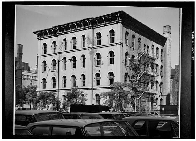 1.  Historic American Buildings Survey Cervin Robinson, Photographer 14 August 1963 WEST (FRONT) AND SOUTH ELEVATIONS - Jones School, 607 South Plymouth Court, Chicago, Cook County, IL