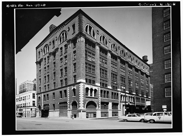 1.  Historic American Buildings Survey Cervin Robinson, Photographer July 1963 EXTERIOR FROM SOUTHWEST - Lakeside Press, 731 South Plymouth Court, Chicago, Cook County, IL