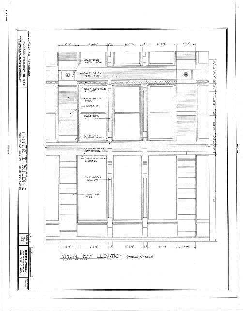 HABS ILL,16-CHIG,23- (sheet 5 of 6) - Leiter I Building, 200-208 West Monroe Street, Chicago, Cook County, IL