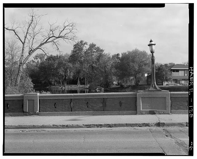 6.  DETAIL OF NORTH RAILING SECTION - Main Street Bridge, Spanning Fox River at State Route 72, West Dundee, Kane County, IL