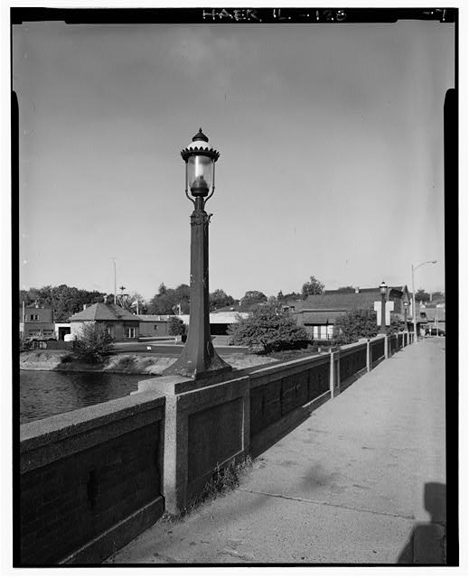 7.  LIGHT POST DETAIL - Main Street Bridge, Spanning Fox River at State Route 72, West Dundee, Kane County, IL