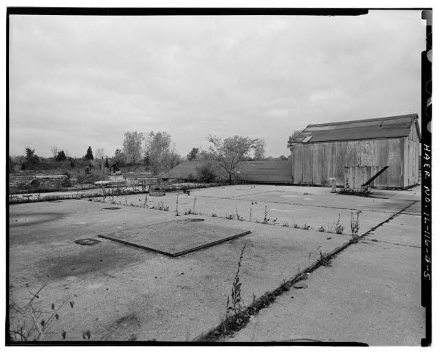5.  MAGAZINE P LAUNCH PAD, LOOKING NORTHEAST. - NIKE Missile Base C-84, Underground Storage Magazines & Launcher-Loader Assemblies, Easternmost portion of launch area, Barrington, Cook County, IL
