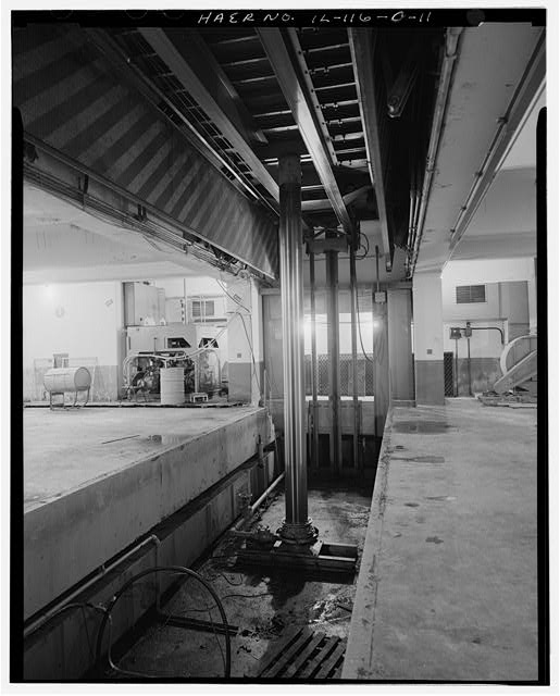 11.  MAGAZINE P INTERIOR, ELEVATOR DETAIL. - NIKE Missile Base C-84, Underground Storage Magazines &amp; Launcher-Loader Assemblies, Easternmost portion of launch area, Barrington, Cook County, IL