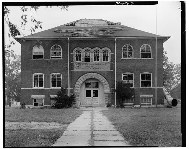 2.  WEST (FRONT) ELEVATION - Riley School, Seventh & College Streets, Mitchell, Lawrence County, IN