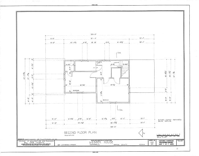 HABS IND,49-IND,11- (sheet 4 of 8) - Webber House, 621 Lockerbie Street, Indianapolis, Marion County, IN