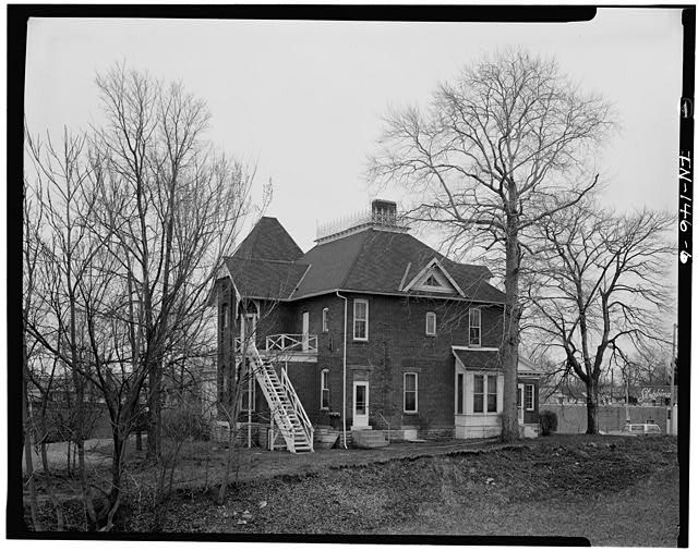 6.  WEST (REAR) AND NORTH (SIDE) ELEVATIONS - Thomas Harrison House, 514 West Main Street, Richmond, Wayne County, IN