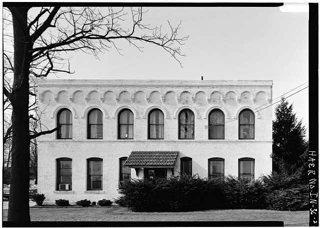 2.  SOUTH ELEVATION OF OFFICE BUILDING - Speed Changing Pulley Company Factory, Thirty-second Street, Anderson, Madison County, IN