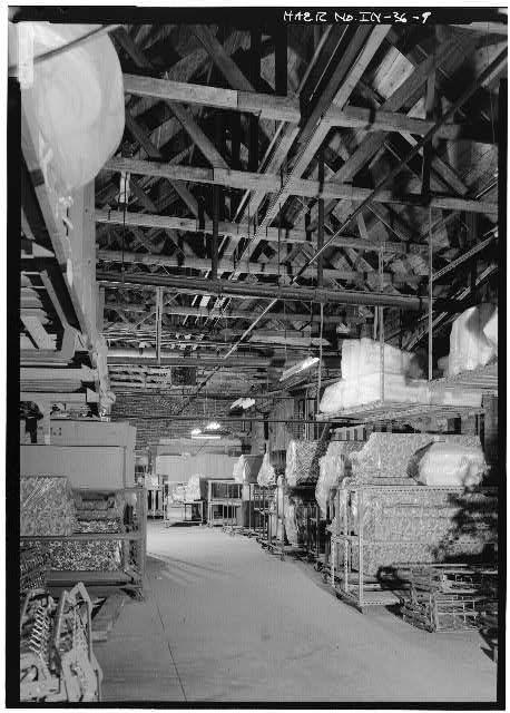 9.  INTERIOR VIEW SHOWING TRUSSES - Speed Changing Pulley Company Factory, Thirty-second Street, Anderson, Madison County, IN