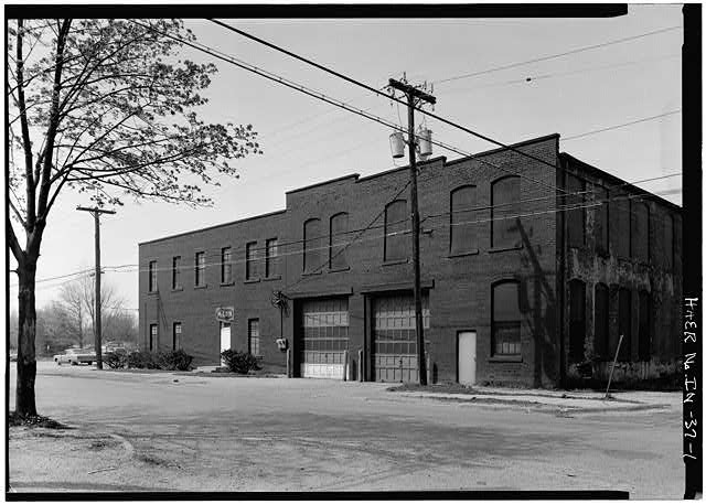 1.  GENERAL VIEW OF EAST FRONT FROM NORTHEAST - Anderson Carriage Manufacturing Company, Twenty-fifth & Walton Streets, Anderson, Madison County, IN