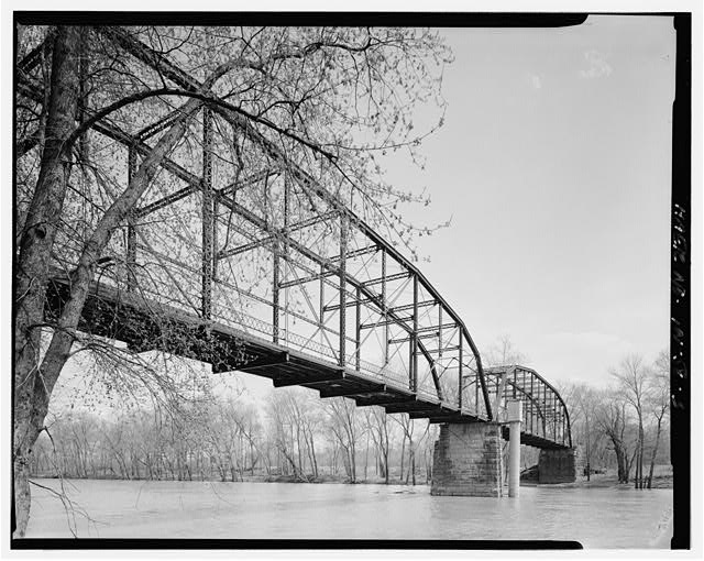 3.  Elevation looking south from north bank. - River Vale Bridge, Spanning White River on County Road 27, Bedford, Lawrence County, IN