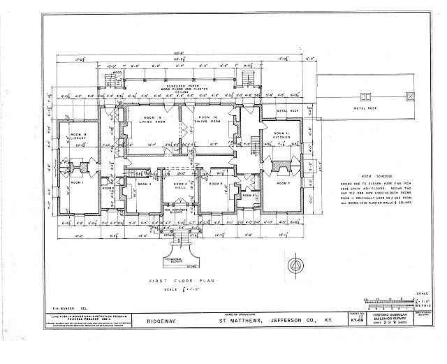 HABS KY,56-SAMA,2- (sheet 2 of 9) - Ridgeway, 4095 Massey Avenue, Saint Matthews, Jefferson County, KY