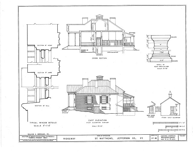 HABS KY,56-SAMA,2- (sheet 4 of 9) - Ridgeway, 4095 Massey Avenue, Saint Matthews, Jefferson County, KY