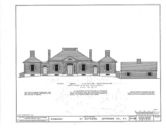 HABS KY,56-SAMA,2- (sheet 9 of 9) - Ridgeway, 4095 Massey Avenue, Saint Matthews, Jefferson County, KY
