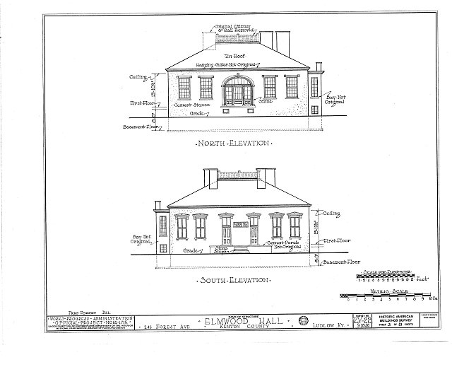 HABS KY,59-LUDLO,2- (sheet 3 of 19) - Elmwood Hall, 246 Forest Avenue, Ludlow, Kenton County, KY