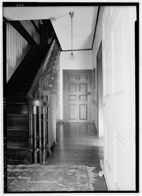 3.  Historic American Buildings Survey Lester Jones, Photographer May 27, 1940 STAIR DETAIL - Oxmoor, Shelbyville Pike, Louisville, Jefferson County, KY