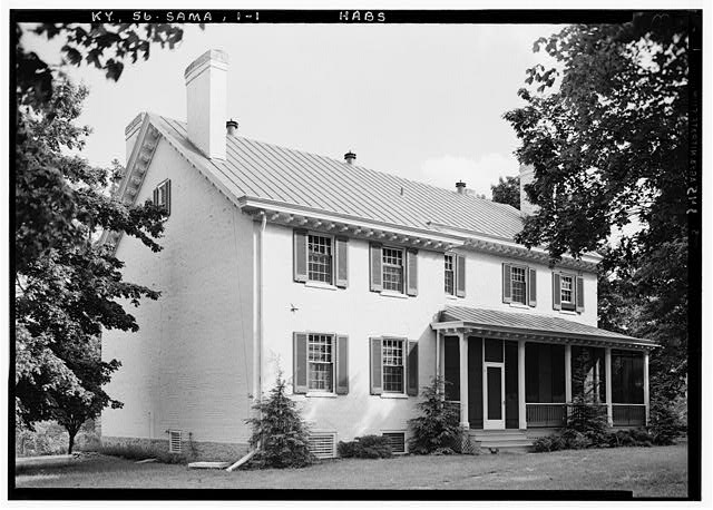 1.  Historic American Buildings Survey Lester Jones, Photographer May 26, 1940. VIEW FROM NORTHWEST - Zachary Taylor House, 5608 Apache Road (formerly Blankenbaker Lane), Saint Matthews, Jefferson County, KY