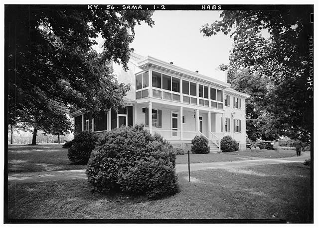 2.  Historic American Buildings Survey Lester Jones, Photographer May 26, 1940. VIEW FROM SOUTHEAST - Zachary Taylor House, 5608 Apache Road (formerly Blankenbaker Lane), Saint Matthews, Jefferson County, KY
