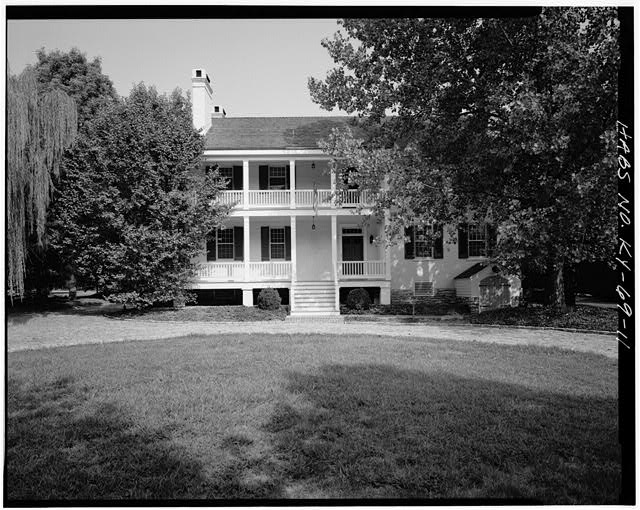11.  SOUTH VIEW OF REAR ELEVATION - Zachary Taylor House, 5608 Apache Road (formerly Blankenbaker Lane), Saint Matthews, Jefferson County, KY