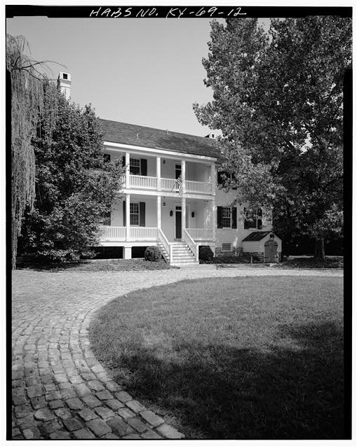 12.  SOUTHWEST VIEW OF REAR ELEVATION - Zachary Taylor House, 5608 Apache Road (formerly Blankenbaker Lane), Saint Matthews, Jefferson County, KY