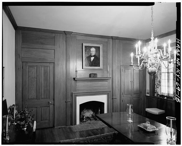 18.  EAST VIEW OF DINING ROOM - Zachary Taylor House, 5608 Apache Road (formerly Blankenbaker Lane), Saint Matthews, Jefferson County, KY