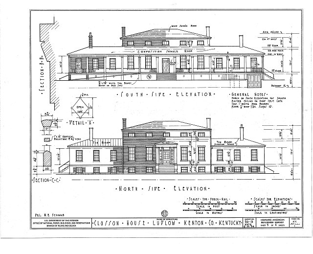 HABS KY,59-LUDLO,1- (sheet 5 of 6) - Old Closson House, Closson Court & Ringold Streets, Ludlow, Kenton County, KY