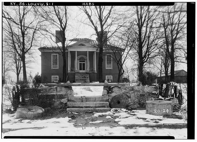 1.  Historic American Buildings Survey Theodore Webb, Photographer, Mar. 19, 1934 WEST ELEVATION (FRONT) - Farmington, 3033 Bardstown Road, Louisville, Jefferson County, KY