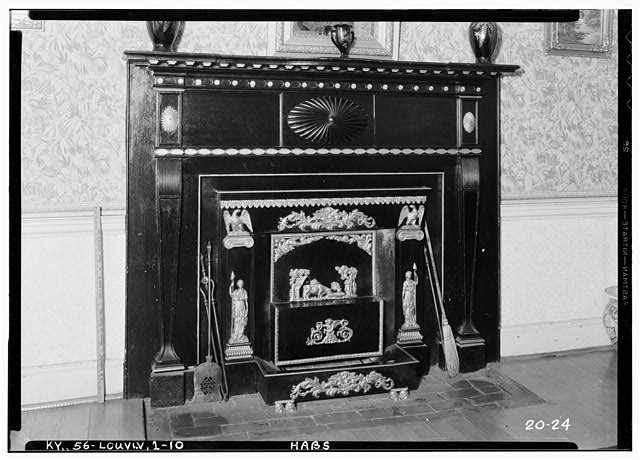 10.  Historic American Buildings Survey Theodore Webb, Photographer, Mar. 19, 1934 DETAIL OF MANTLE (SOUTH OCTAGON ROOM) - Farmington, 3033 Bardstown Road, Louisville, Jefferson County, KY