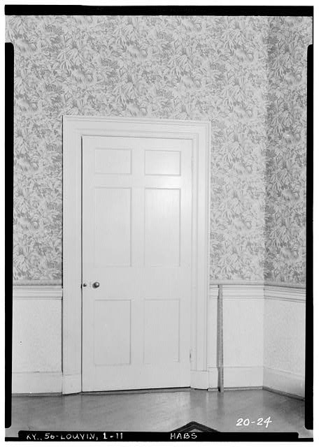 11.  Historic American Buildings Survey Theodore Webb, Photographer, Mar. 19, 1934 DETAIL TYPICAL INTERIOR DOOR - Farmington, 3033 Bardstown Road, Louisville, Jefferson County, KY