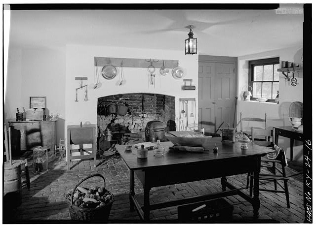 29.  GENERAL VIEW OF THE KITCHEN, LOCATED IN THE CELLAR - Farmington, 3033 Bardstown Road, Louisville, Jefferson County, KY