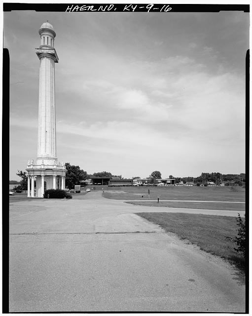 16.  WEST VIEW OF TOWER - Louisville Water Company Pumping Stations, Zorn Avenue & River Road, Louisville, Jefferson County, KY