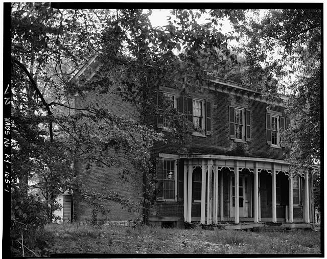 1.  NORTH FRONT - Fred Carr House, State Route 8, Vanceburg, Lewis County, KY