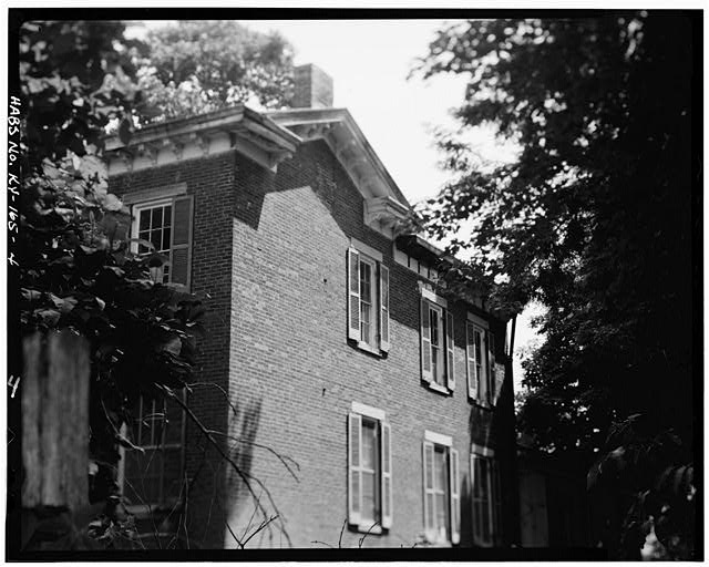 4.  WEST SIDE--MAIN BLOCK - Fred Carr House, State Route 8, Vanceburg, Lewis County, KY