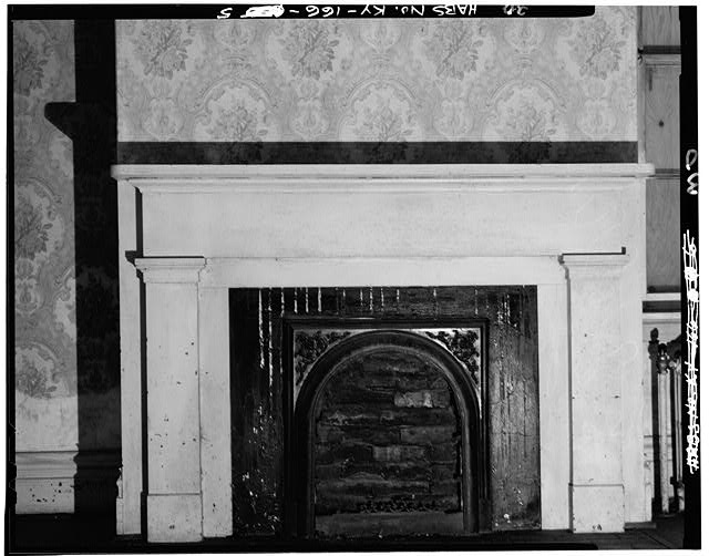 5.  FIRST FLOOR, EAST ROOM, EAST WALL, FIREPLACE DETAIL - Thomas J. Bruce House, State Route 8 (south side), Vanceburg, Lewis County, KY