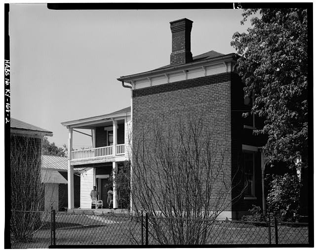 2.  EAST SIDE - John Bierly House, State Route 8, Vanceburg, Lewis County, KY