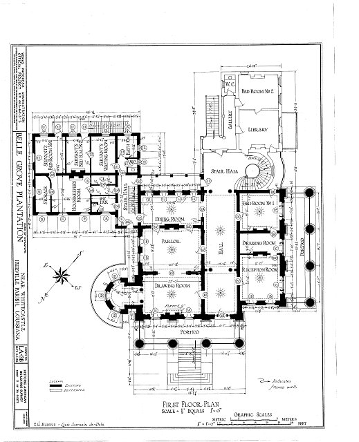 HABS LA,24-WHICA.V,1- (sheet 2 of 36) - Belle Grove, White Castle, Iberville Parish, LA