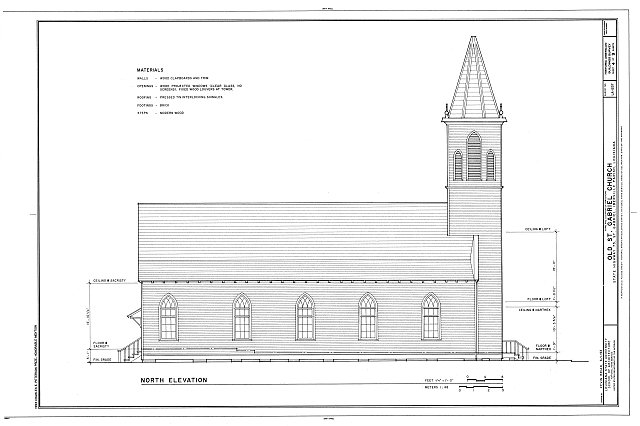 HABS LA,24-STGA,1- (sheet 4 of 9) - Old St. Gabriel Church, State Highway 75, Saint Gabriel, Iberville Parish, LA