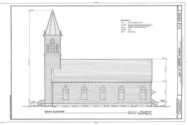 HABS LA,24-STGA,1- (sheet 5 of 9) - Old St. Gabriel Church, State Highway 75, Saint Gabriel, Iberville Parish, LA